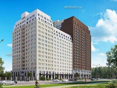 "2-комнатная квартира 74.65 м² в ЖК ""Ньютон парк"""