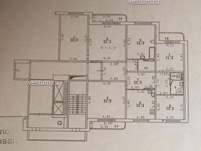 Многокомнатная квартира 138 м²