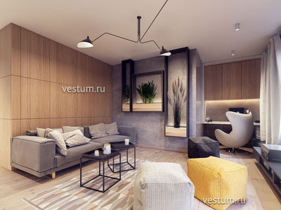 """2-комнатная квартира 51.33 м² в ЖК """"Ривьера Парк"""" дизайн-проект"""